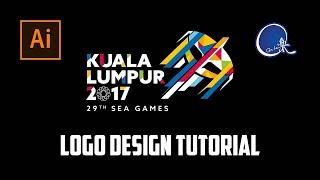 SEA Games 2017 Logo Tutorial - Do it live Illustrator #6