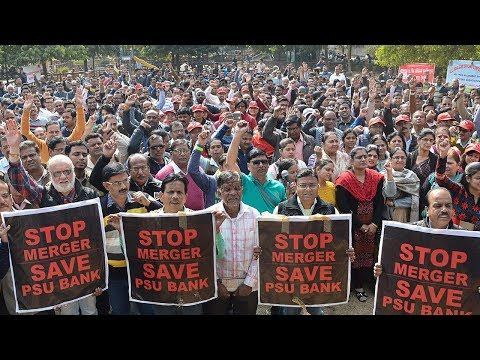 Bank strike: Massive nationwide protest against PSBs merger