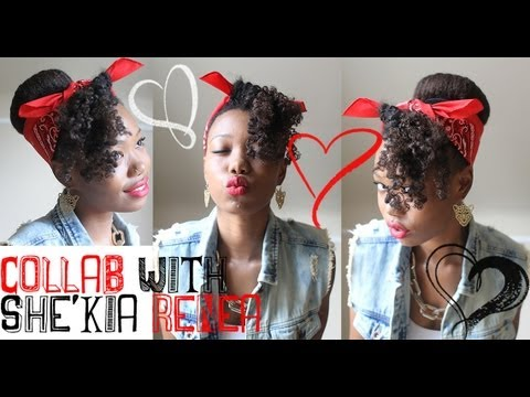♡ Rockabilly Pin Up Hairstyle Collab With She'kia Renea