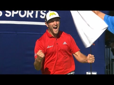 Jon Rahm's incredible eagle finish on the 72nd hole at Farmers