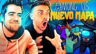 IMPOSTOR en el NUEVO MAPA de AMONG US !!! DjMaRiiO ft. AURON, PERXITA...
