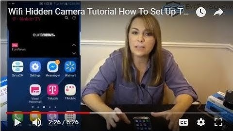 Wifi Hidden Camera Tutorial How To Set Up The Live View Spy Cameras/Nanny Cams By EyeSpySupply Pro