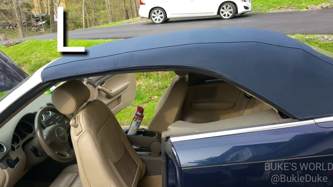 how to close or open a stuck convertible roof on an audi a4 [ 1280 x 720 Pixel ]