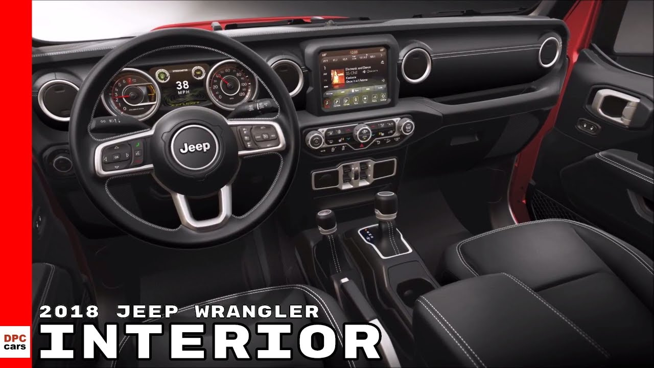 Wrangler Jeep Inside >> 2018 Jeep Wrangler Interior Youtube