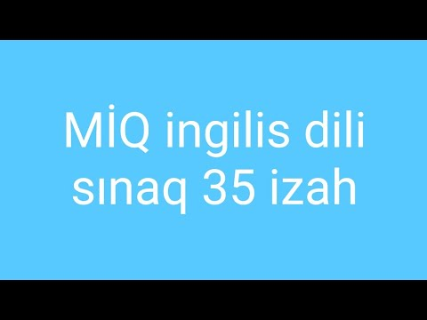 Miq Ingilis Dili Sinaq 35 Cetin Youtube