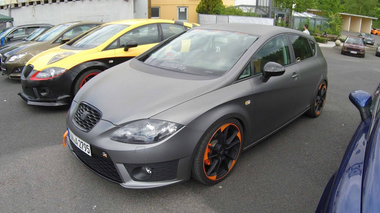 Seat Leon Ii Fr Line Type 1p Leon 2 Facelift Tuning Show Car Matte Grey Colour Walkaround Youtube