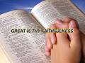 Great Is Thy Faithfulness, O God My Father