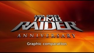 PS2 vs Wii - Tomb Raider Anniversary - graphic comparation