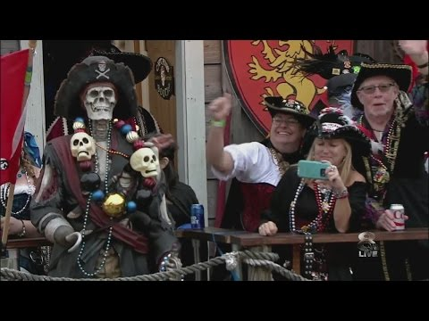 Watch: Tampa's Gasparilla Parade of Pirates 2017