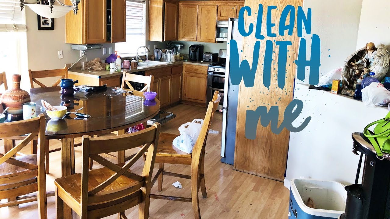 Extreme Messy Kitchen Clean With Me Extreme Speed Cleaning Power Hour