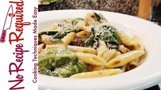 Chicken Penne With Mushroom Sauce - Noreciperequired.com