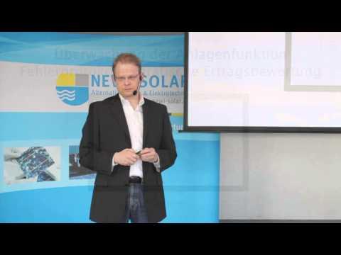 Vortrag: Wartung von und Service für Solaranlagen von NEWI-SOLAR