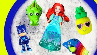5 Toys Learn Characters For Kids - Pj Masks, Barbie and Surprise Toys For Children