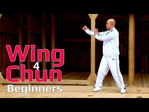 Wing Chun Lesson for beginners 12: basic hand exercise/static bong sau with chop