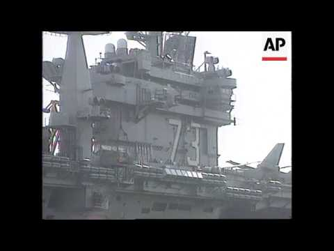 Suez Canal - USS George Washington approaches Gulf