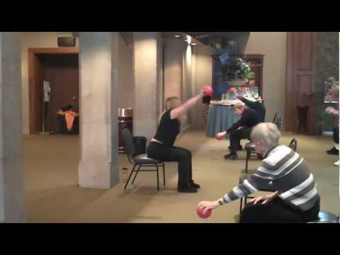 Stronger Seniors® Class Using Exercise Balls