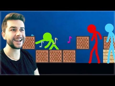 REACTING TO AMAZING ANIMATION Vs MINECRAFT!! - STICKMEN Vs NOTEBLOCKS Minecraft Animation