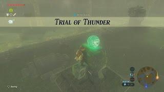 Legend of Zelda Breath of the Wild Trial of Thunder Gameplay Walkthrough