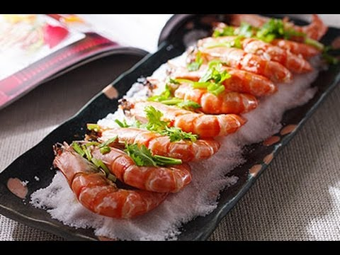 【楊桃美食網】用平底鍋做鹽烤蝦