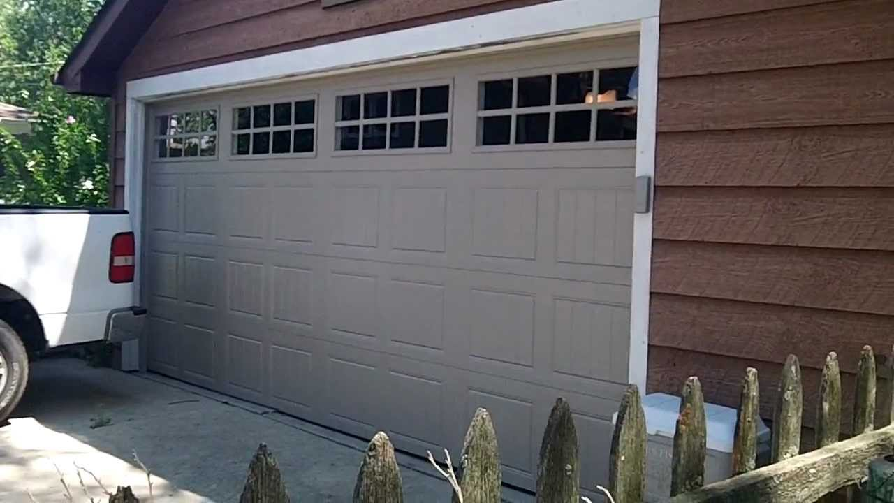 clopay 16x8 gallery garage door r value 90 westmontil 60559 youtube - Clopay Garage Doors
