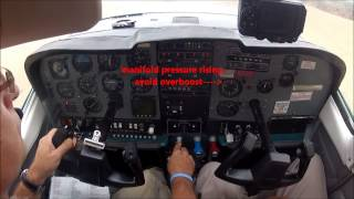 Bush Flying in a C210 - South Africa. Cockpit view!