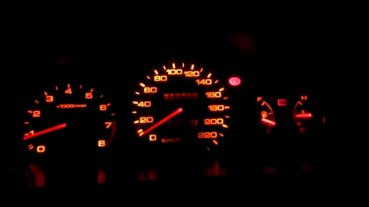 светотюнинг панели приборов Honda Civic