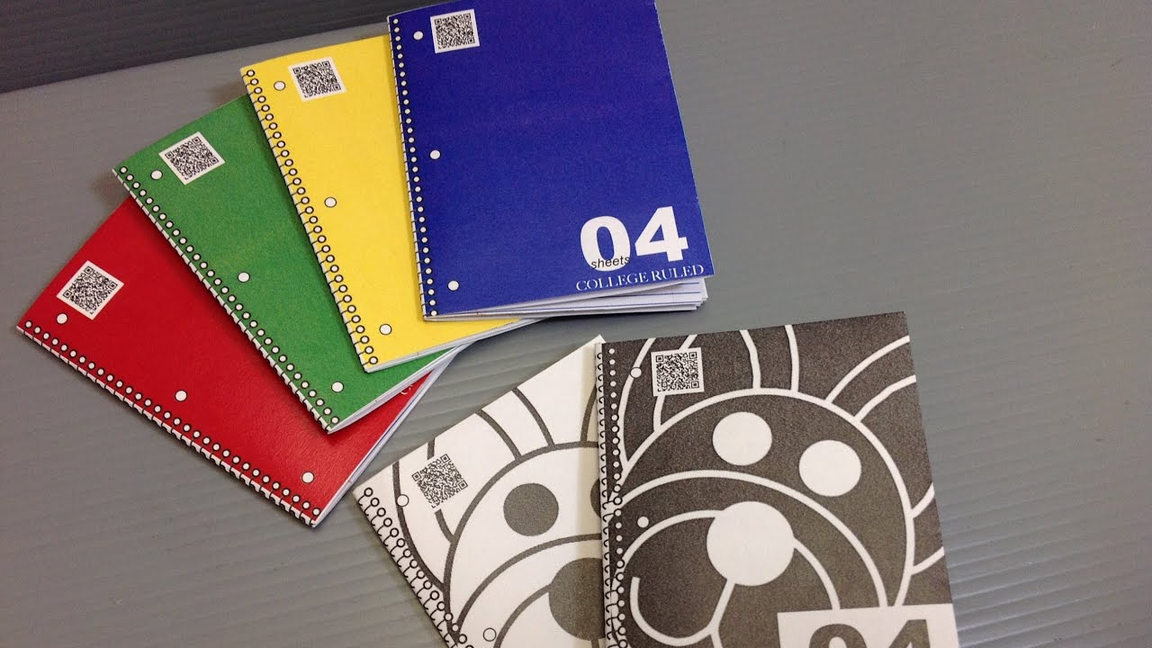how to create your own spiral notebook