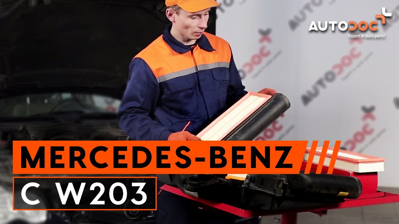 C mo cambiar filtro de aire en mercedes benz c w203 for Mercedes benz of wilmington de