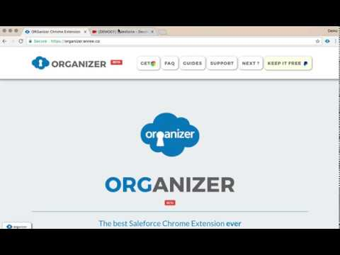 organizer chrome extension demo quicklinks objects command youtube