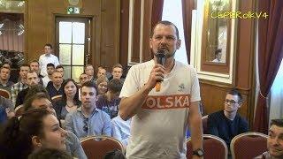 Pytania do Janusza Korwin-Mikkego w Bydgoszczy 12.05.2018