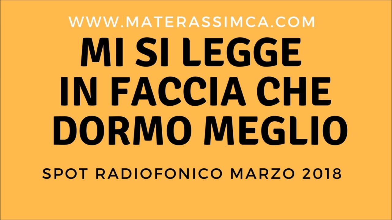 Materassi Mca.Materassi Mca Milano Spot Radiofonico Youtube