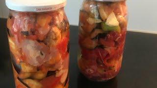 Cam kavanozda guvec/camda patlıcan ve bulgur pilavı