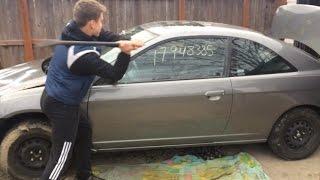 DESTROYING A CAR: HONDA CIVIC *(BREAKING A WINDOW)*