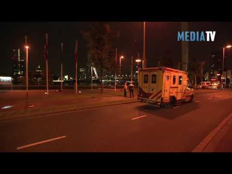 Motorrijder ernstig gewond bij ongeval Boompjes Rotterdam
