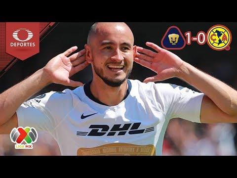 Pumas vence al América en CU |  Pumas 1 - 0 América | Clausura 2019 - J 7 | Televisa Deportes