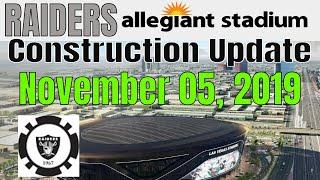 Las Vegas Raiders Allegiant Stadium Construction Update 11 05 2019