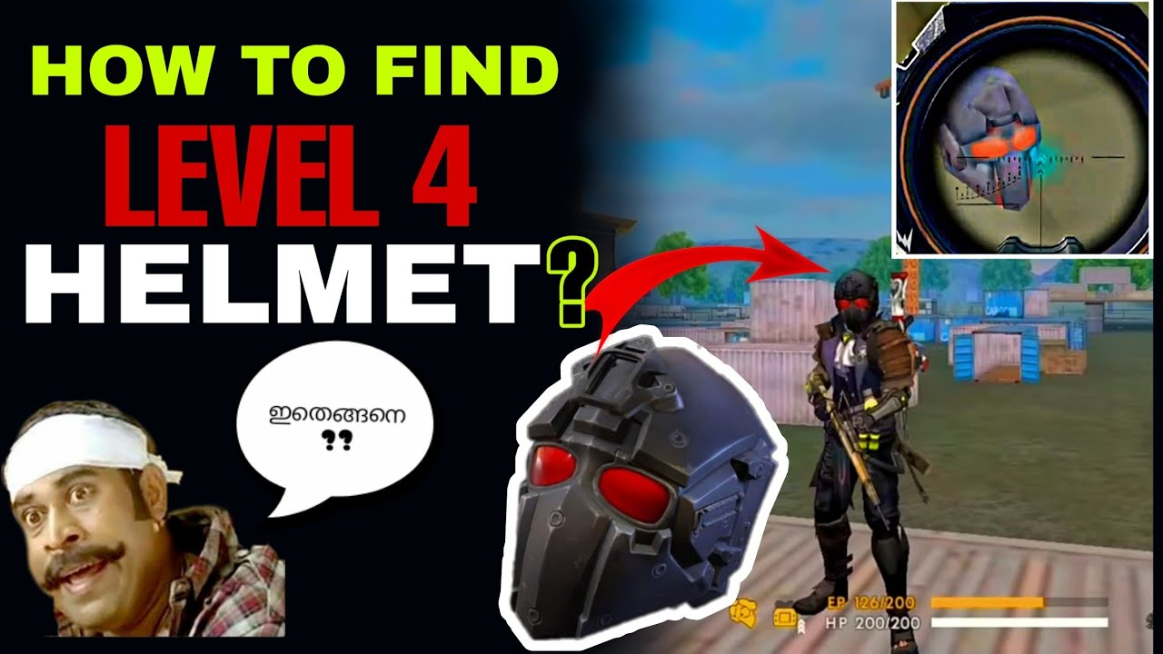 How To Find Level 4 Helmet In Free Fire Level 4 Helmet In Gerana Free Fire Freefire