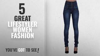 Lifestyler Women Fashion [2018 Best Sellers]: Lifestyler Women Ripped High Waist Slim Skinny Jeans