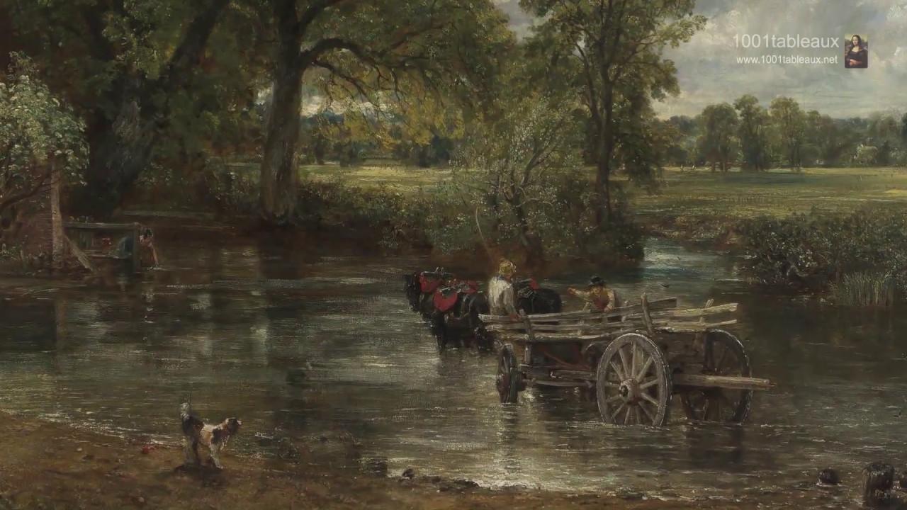 La Calèche De Foin Par Le Peintre Anglais John Constable Youtube