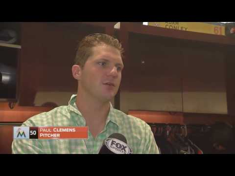 Paul Clemens -- Miami Marlins vs. Chicago Cubs 06/25/2016