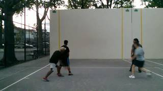 William H and Jerry P vs Clifford C and Johnny J 2017-08-08 handball game
