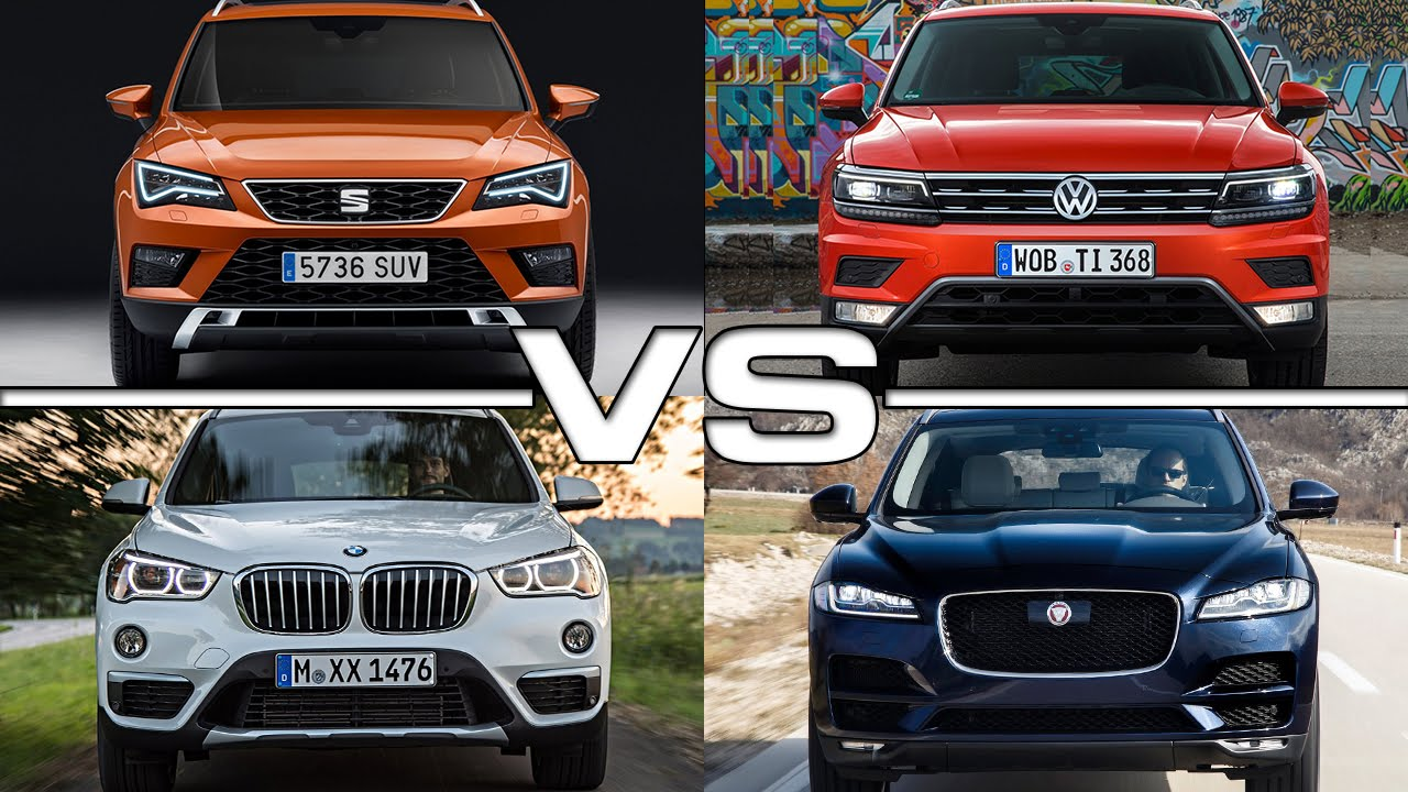 seat ateca vs vw tiguan vs bmw x1 vs jaguar f pace youtube. Black Bedroom Furniture Sets. Home Design Ideas