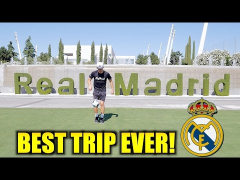 Ilaripro at Real Madrid's Training Centre!
