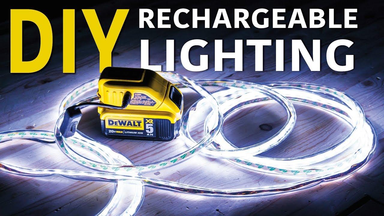 LED Light Strip Powered By Dewalt Battery