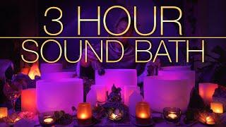 432Hz - 3 Hour Crystal Singing Bowl Healing Sound Bath (4K, No Talking) - Singing Bowls - Sound Bath