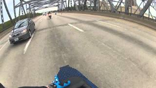 Cop swerves at motorcyclist police try to hit bike on highway Ride of the Century