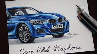 BMW 3 Series M Sport (F30) CARRE Wheels | Car Drawing