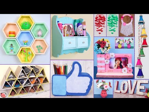 10 UseFull !! DIY ROOM DECOR & ORGANIZER || Handmade Things