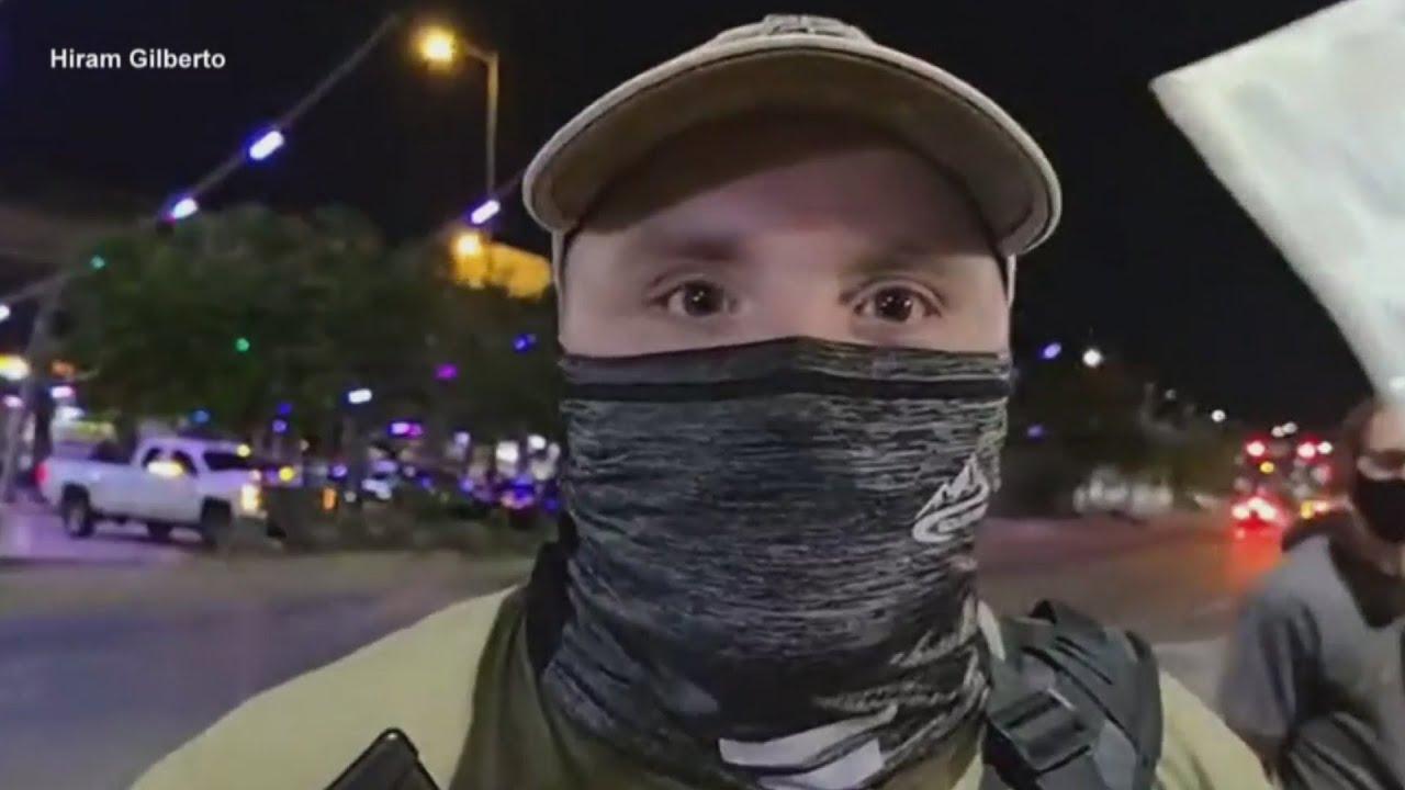Video footage from Austin protest shows Garrett Foster in interview