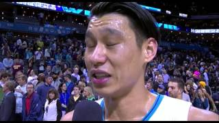 Jeremy Lin post game interview - Hornets vs Cavs